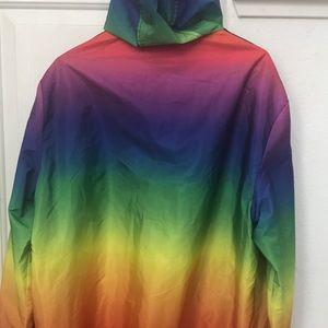 H&M rainbow windbreaker